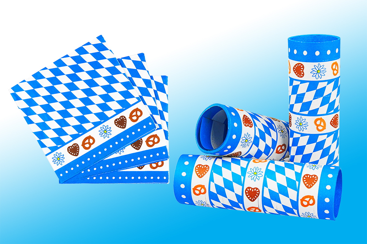 Oktoberfest deko in blau wei online kaufen deiters for Dekoartikel party