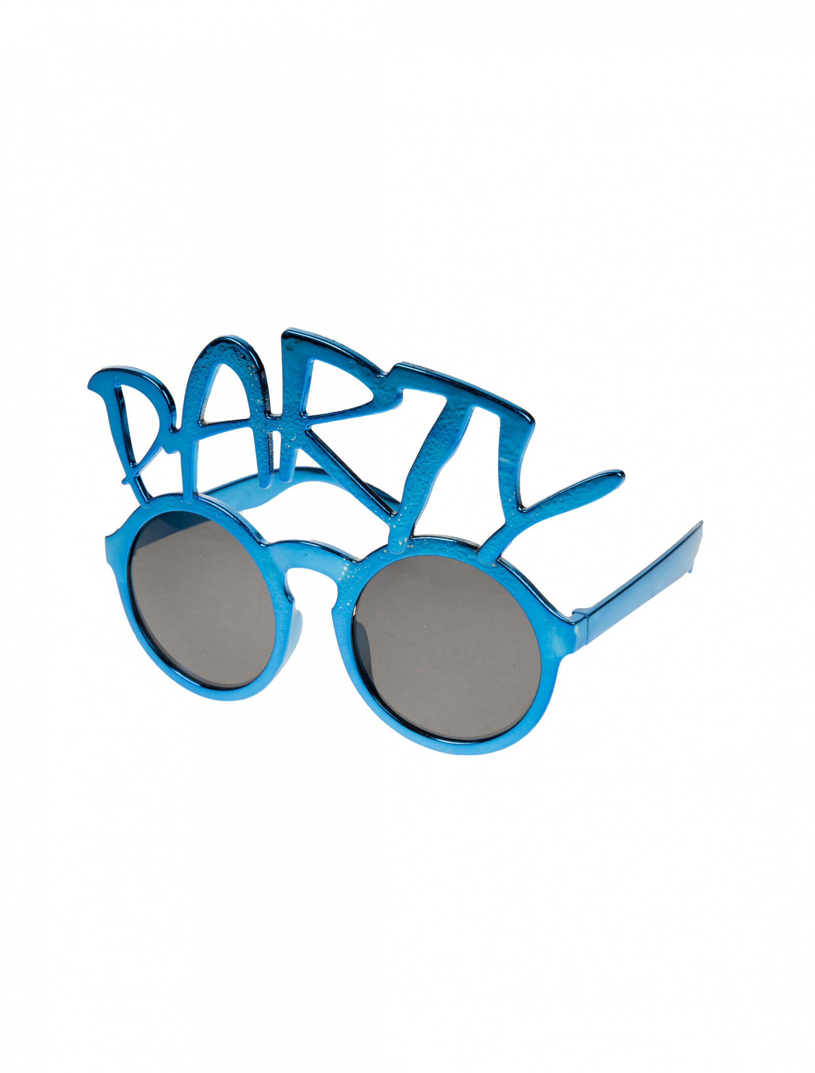 Brille Glases Partybrille Party Disco Karneval Fasching Blau