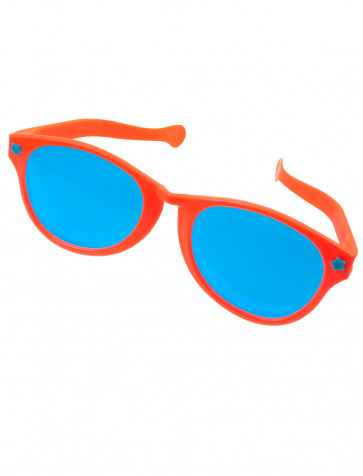 Brille riesig orange