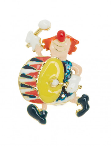 Pin Clown Pogo mit Pauke