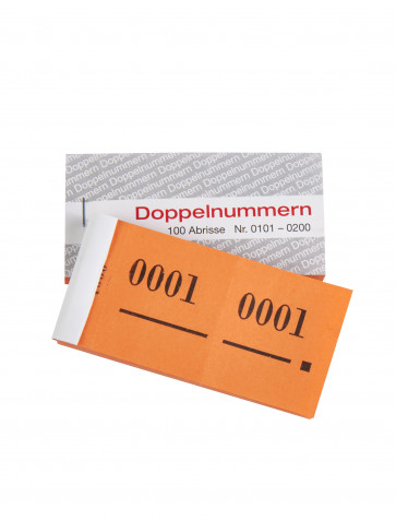 Doppelnummern 1-1000 orange