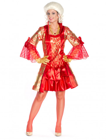 Kleid Marquise rot/gold sexy