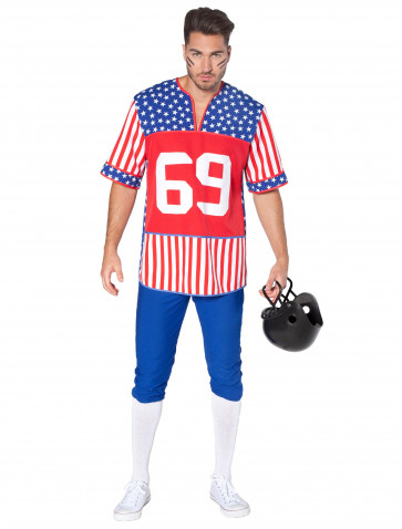 Football-Spieler Stars and Stripes 2-tlg.