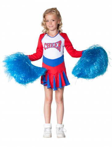 Kleid Cheerleader Kinder rot/weiß/blau