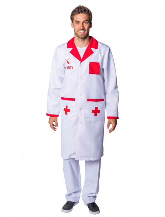 Doktorkittel Dr. Party weiß/rot
