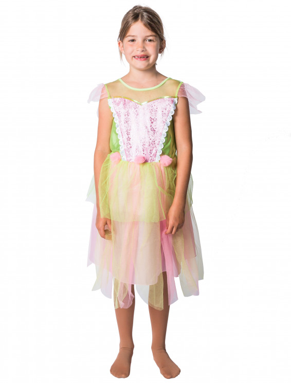 Kleid Fee Kinder grün/rosa