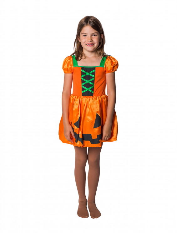 Kleid Kürbis Kinder orange
