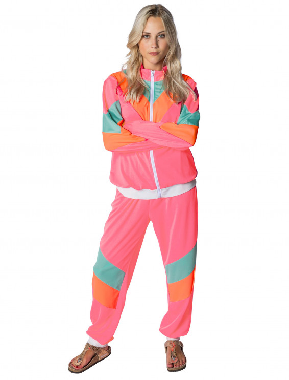 Jogginganzug Damen pink/orange 2-tlg.