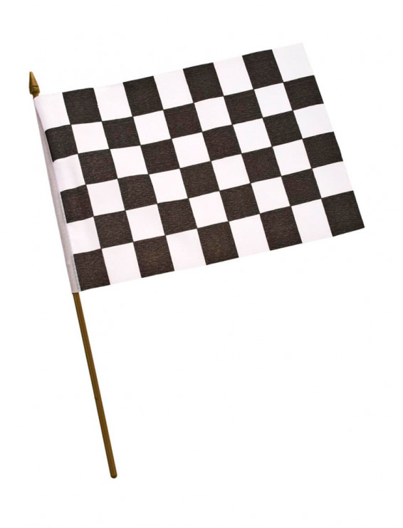 Flagge Racing am Stab 30x20cm