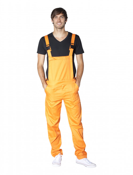 Latzhose orange