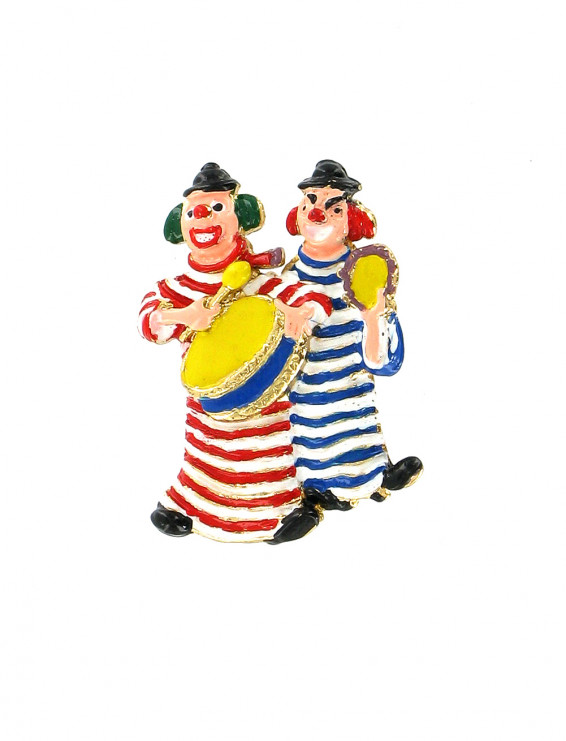 Pin Clowns mit Ringelshirts