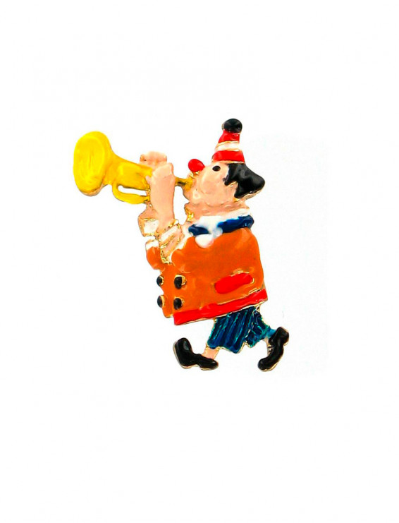 Pin Clown Bepo mit Trompete