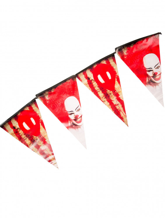 Wimpelkette Horror-Clown 6m