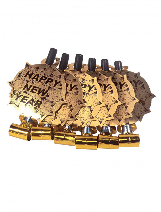 Luftrüssel Set Happy New Year gold 6 Stk.