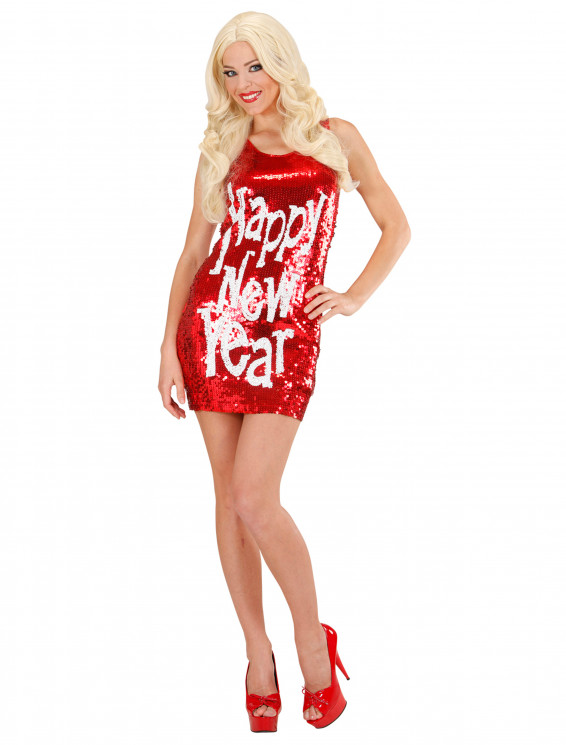 Paillettenkleid Happy New Year