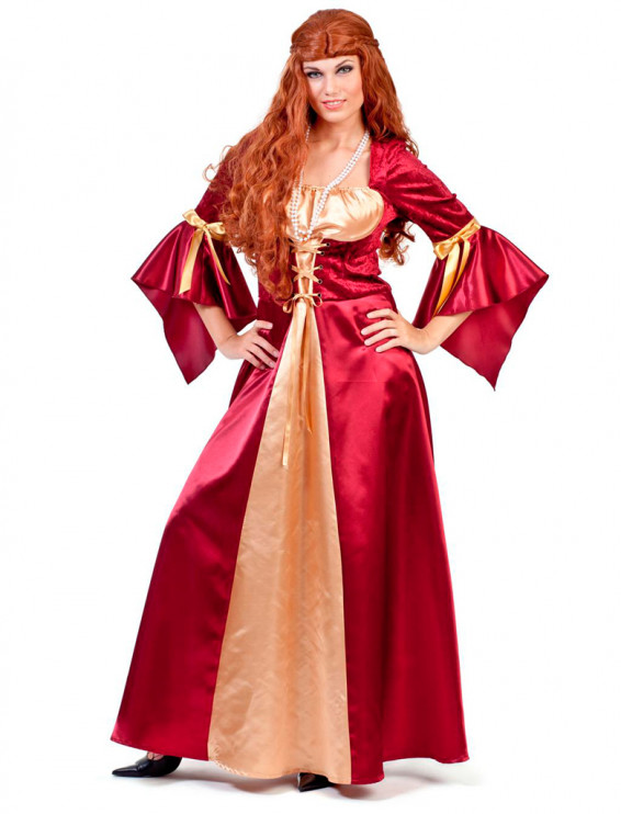 Kleid Marquise rot/gold