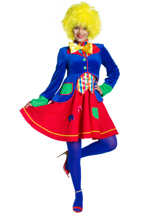 Kleid Clown Dame Lucky