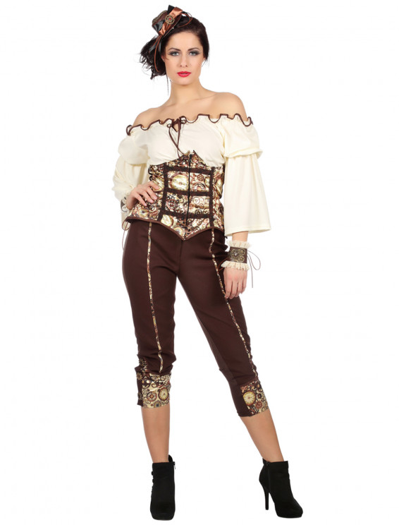 Steampunk Damen 3-tlg.