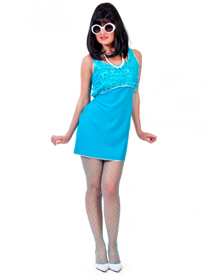low priced 26129 8a520 Kleid 60er türkis