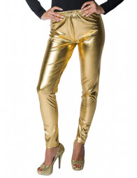 Leggings gold metallic