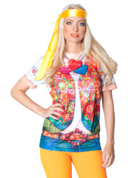T-Shirt 60's Hippie Girl Damen