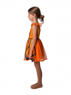 Kleid Schmetterling Kinder orange