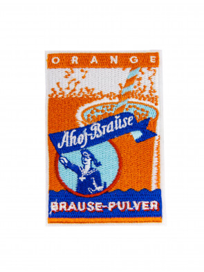 Aufnäher Ahoj-Brause Brause-Pulver Orange
