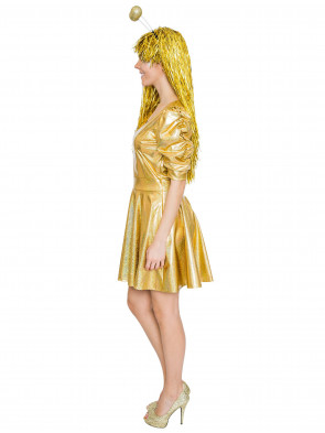 Spacekleid Laser gold