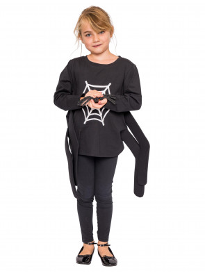 Shirt Spinne Kinder schwarz