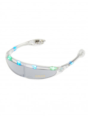 LED Brille transparent