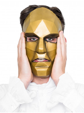 Latexmaske gold