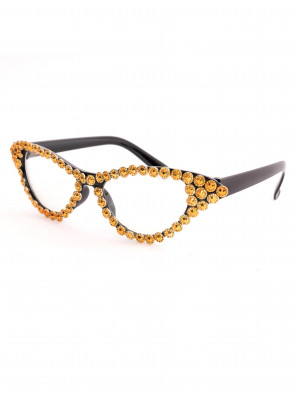 Brille Diamantoptik gold