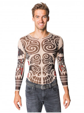 Shirt langarm Tattoo Skull