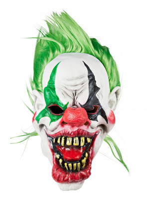 Latexmaske Zombie Clown