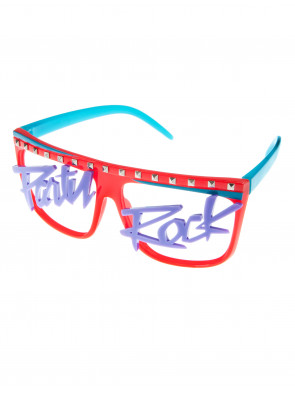 Brille Party Rock neonrot