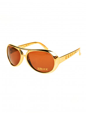 Brille Rock 'n' Roll gold/braun
