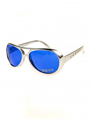 Brille Rock 'n' Roll silber/blau