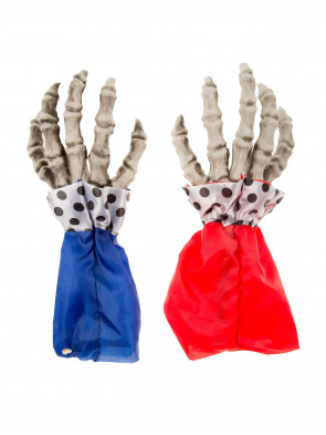 Handschuhe Skelett Clown