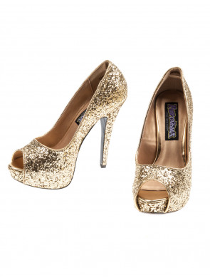 Pumps Glitzer gold
