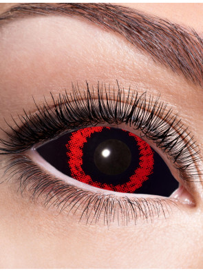 Kontaktlinsen Sclera Red Demon