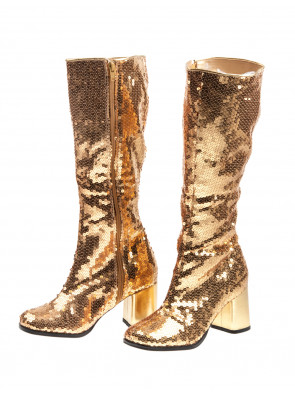 Paillettenstiefel gold