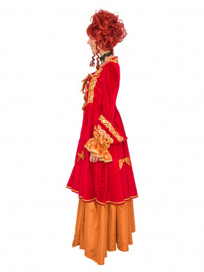 Kleid Marquise de luxe rot/gold