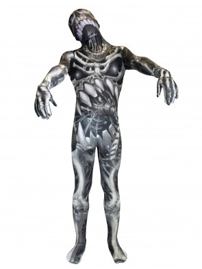 Morphsuit Skelett Horror Kinder