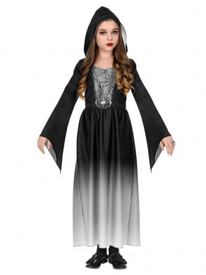 Kleid mit Kapuze Gothic Girl Kinder