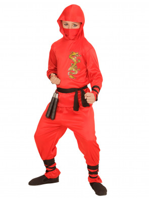 Ninja Dragon Kinder rot 6-tlg.