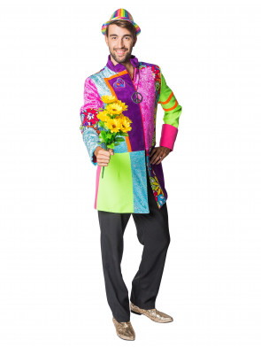 Mantel Flower Power Herren