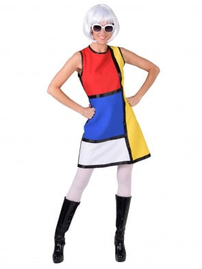 Kleid Pop-Art Damen bunt