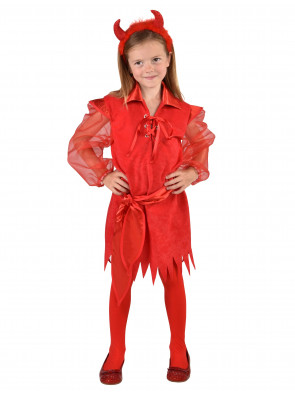 Kleid Halloween Kinder rot