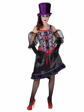 Kleid lang Day of Death deluxe Damen