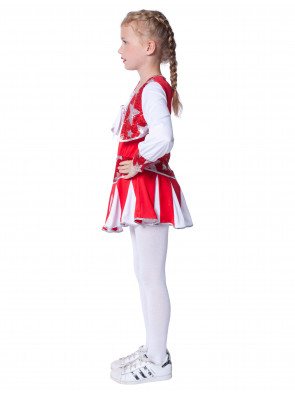 Kleid Cheerleader Kinder rot/weiß
